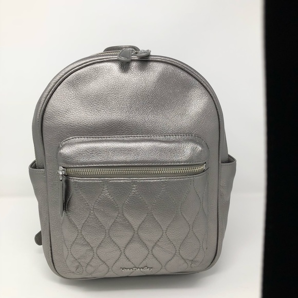 7e21380edce5 Vera Bradley Metallic Leighton Caspian Backpack. M 5a49c033c9fcdff849037515